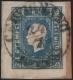 """Österreich, 1858, Zeitungsmarken-Ausgabe 1858, Ferchenbauer Nr. 16a, 1,05 Kreuzer blau, Type I, auf kleinem Zeitungsstück, entwertet mit """"CERVIGNANO 24/7"""", ATTEST Dr. Ferchenbauer """"Es handelt sich um erlesenes PRACHTSTÜCK!"""", DB 6022"""