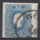 Nr. 16 a, Zeitungsmarke 1858, blau, Plattenfehler rinnendes Auge, Befund Dr. Ferchenbauer als rel. (P!) DB