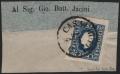 """Österreich, 1858, Zeitungsmarken-Ausgabe 1858, Ferchenbauer Nr. 16 c, 1,05 Kreuzer bzw. Soldi, tiefdunkelblau, Type I auf Adresszettel-Teil, entwertet mit """"CASALBUTTANO 27/4"""", besonders tiefe Farbe !! - ATTEST Dr. Ferchenbauer """"KABINETTSTÜCK!"""" DB 6029"""