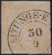 """ANK Nr. 7 I b, Michel Nr. 7 I a, Ferchenbauer Nr. 7, Zeitungsmarke-Ausgabe 1851, """"GELBER MERKUR"""" gelb, Type Ib, ATTEST Dr. Ferchenbauer als """"Es handelt sich um ein wirkungsvolles PRACHTSTÜCK! dieser diffizilen Marke"""" - IN DIESER QUALITÄT SEHR SELTEN - DB"""