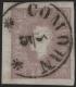 """Österreich, 1858/59, Zeitungsmarken-Ausgabe 1858/59, MICHEL Nr. 17 a, Ferchenbauer Nr. 17 a, 1,05 Kreuzer entwertet mit Einkreis-Zierstempel """" COMORN 3 / 5 """" - BEFUND Dr. Ferchenbauer """" P(RACHTSTÜCK) !"""" - DB VF2226"""