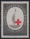 """ANK Nr. 1165 P, Michel Nr. 1135 P, 100 Jahre Rotes Kreuz, Probedruck mit Emblem in Graubraun statt Silber, postfrisch, ATTEST Soecknick """"echt und einwandfrei"""" """"DER SELTENE PROBEDRUCK, ES IST DAS ERSTE MIR BEKANNTE DERARTIGE STÜCK ...."""" DB"""