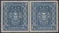 """Österreich, 1922/24, ANK Nr. 399 I, MICHEL Nr. 399 A PF I, Freimarkenausgabe: Frauenkopf, 25 Kronen im waagrechten Paar mit Plattenfehler Diadem (Nachgravur), postfrisch, KURZBEFUND Soecknick """"echt und einwandfrei"""", SEHR SELTEN !! - DB UMB170"""
