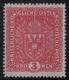 """201 II, Freimarken: Wappen, Wert zu 3 Kronen im Breitformat, postfrisch, BEFUND Soecknick """"echt und einwandfrei"""""""