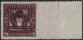 Österreich, 1926, ANK Nr. 490 Ur, Michel Nr. 490 Ur, Nibelungensage, 15 + 5 Groschen RECHTS UNGEZÄHNT, postfrisch, ATTEST Soecknick