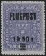 Österreich, 1918, ANK Nr. 225 P II, MICHEL Nr. 225 P II, Flugpostmarke MIT PROBEAUFDRUCK 1.50 K(ronen) auf 2(Kronen) violett, postfrisch, ATTEST Soecknick