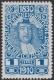 """161 P, Jubiläumsausgabe 1910, 1 Heller Probedruck in Kobalt, postfrisch !!!, BEFUND Soecknick """"echt und einwandfrei"""", SEHR SELTEN !!!, DB"""