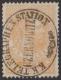 """Nr. 8, Telegraphenmarke 1 FL (Gulden) orange im Buchdruck bzw. Steindruck in Lz. 10 1/2 gestempelt K. K. TELEGRAPHENSTATION CZERNOWITZ, ATTEST Soecknick """"echt"""" + """"optisch perfekte Marke"""", """"geringfügig verschönte Zähnung"""", DB"""