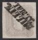 Nr. 23 e, Zeitungsmarke 1,05 Kreuzer 1861 in der besseren Farbe bräunlichlila, BEFUND Dr. Ferchenbauer als breitrandiges rel. P(rachtstück)