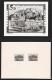 Österreich, 1987, ANK Nr. 1910, Michel Nr. 1879, 700 JAHRE SALZBURGER STADTRECHT - Sehr SELTENE FOTOPROBE und amtlicher Vorlagekarton mit 2 verschiedenen Probedrucken, je mit ATTEST Dr. Glavanovitz