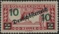 """Österreich, 1921, ANK Nr. 254 P, MICHEL Nr. 254 P, Eilmarke """"Merkurkopf"""" MIT PROBEAUFDRUCK """"10"""" ( Heller ) in blaugrün, ungebraucht, ATTEST Soecknick """"echt und einwandfrei"""" - TOP-RARITÄT !! - DB VF2478"""