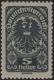 Österreich 1919/20, ANK Nr. 257 xc, MICHEL Nr. 257 xb, Freimarkenausgabe 1919/20 - Posthorn, Wappen, Allegorien, 5 Heller in der seltenen Farbe SCHWARZGRAU, postfrisch, ATTEST Soecknick