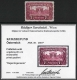 """Österreich, 1919/21, ANK Nr. 289 P, MICHEL Nr. 289 P, Parlament 7 ½ Kronen gezähntes Vorlagestück ( auch REGENBOGENSERIE genannt ), ohne Gummierung wie hergestellt, BEFUND Soecknick """"echt und einwandfrei"""" - EXTREM SELTEN !! - DB CG14489"""