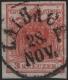 """Österreich, 1850, Ferchenbauer Nr. 3 H I a, 3 Kreuzer, dunkelkarminrot, Handpapier, Type I a entwertet mit """" LAIBACH 28. NOV. """", BEFUND Dr. Ferchenbauer als """" (eng)vollrandiges farbintensives P(RACHTSTÜCK) ! """" DB M1119"""