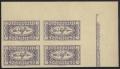 Österreich, 1921, ANK Nr. 417 U, MICHEL Nr. 417 U, Eilmarke 1921, UNGEZÄHNT im 4er-Block aus der rechten oberen Bogenecke MIT RANDLEISTE, postfrisch, ATTEST Soecknick