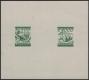 """Österreich, 1925, ANK + MICHEL Nr. 455 P + 459 P ZD 500 Kronen und 4000 Kronen Freimarken Probedrucke zusammen auf Kleinbogen in Schwärzlichgelblichgrün, ATTEST Soecknick """"echt und einwandfrei"""" - DB VF2521"""