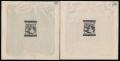 """Österreich, 1927, ANK + MICHEL Nr. 466 PU - 467 PU, Freimarkenausgabe: Ziffernzeichnung, 1 Schilling + 2 Schilling je als ungezähnte Einzelabzüge im Kleinbogenformat in schwarzgrau, je ATTEST Soecknick """"echt und einwandfrei"""" - SEHR SELTEN !! - DB HDR450"""