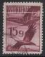 Nr. 480, Flugpost 1925/30, 15 Groschen mit schöner Papierfalte, gestempelt