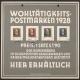 Österreich, 1928, ANK Nr. 494 - 497, MICHEL Nr. 494 - 497 Dr. Michael Hainisch, SELTENER WERBEAUFSTELLER AUS KARTON für die Wohltätigkeitsausgabe Dr. Michel Hainisch gedruckt von der Österreichischen Staatsdruckerei mit gestempelter Hainisch Serie DB D726