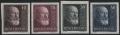 Österreich, 1928, ANK Nr. 494 U - 497 U, MICHEL Nr. 494 U - 497 U, 10 Jahre Republik bzw. Dr. Michael Hainisch UNGEZÄHNT, ohne Gummierung wie hergestellt, ATTEST Soecknick