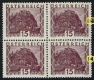 Michel Nr. 500 vL, Landschaftsbilder großes Format, Wert zu 15 Groschen mit schräg versetztem Zahnlochpaar, postfrisch