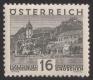 Michel Nr. 501 vL, Landschaftsbilder großes Format, Wert zu 16 Groschen mit schräg versetztem Zahnlochpaar, postfrisch