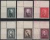 Österreich, 1932, ANK Nr. 545 - 550, MICHEL Nr. 545 - 550, Österreichische Maler, einheitlich aus der linken oberen Bogenecke, postfrisch, DB D1040