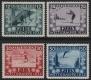 Österreich, 1933, ANK Nr. 551 - 554, MICHEL Nr. 551 - 554, FIS I - FIS WETTKÄMPFE INNSBRUCK 1933, postfrisch, ATTEST Soecknick