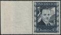 """Österreich, 1936, ANK Nr. 588, MICHEL Nr. 588 - 10 S Dollfuß - VORLAGESTÜCK MIT ÜBERBREITEM LINKEM BOGENRAND ( ca. 4 cm ) AUS VORLAGEBOGEN - postfrisch, ATTEST Soecknick """"echt und einwandfrei"""" - IN DIESER FORM SEHR SELTEN !! - DB D250"""