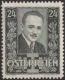 Österreich, 1934, ANK Nr. 589 I, MICHEL Nr. 589 I, 24 Groschen Trauermarke anläßlich der Ermordung des Bundeskanzlers Dr. Engelbert Dollfuß, schwarzgrün, Hochformat, postfrisch, DB D498