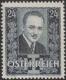 Österreich, 1934, ANK Nr. 590 I, MICHEL Nr. 590 I, 24 Groschen Trauermarke anläßlich der Ermordung des Bundeskanzlers Dr. Engelbert Dollfuß, schwarzblau, Hochformat, postfrisch, DB D498