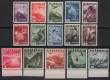 Österreich, 1935, ANK Nr. 598 - 612, MICHEL Nr. 598 - 612, Flugpostausgabe 1935, 1 Schilling bis 10 Schilling einheitlich vom unteren Bogenrand, postfrisch, DB D491