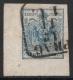 Nr. 5 H IIIb, 9 Kreuzer Handpapier Type IIIb, linke untere Bogenecke mit 8 : 5 mm, BEFUND Dr. Ferchenbauer als breitrandies attraktives P(rachtstück), DB