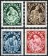 Österreich, 1937, ANK Nr. 642 - 645, MICHEL Nr. 642 - 645, Winterhilfe IV - 4. Ausgabe, postfrisch, DB D503
