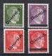 660 - 663, 1. Wiener Aushilfsausgabe, 5 Pfennig - 12 Pfennig, glatter Gummi postfrisch