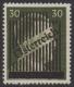 672 I, 3. Wiener Aushilfsausgabe 30 Pfennig in Type I zwei Druckgänge, dünner Balken, postfrisch