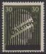672 II, 3. Wiener Aushilfsausgabe 30 Pfennig Type II ein Druckgang, dicker Balken, postfrisch