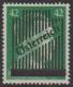 673 I, 3. Wiener Aushilfsausgabe 42 Pfennig in Type I zwei Druckgänge, dünner Balken, postfrisch