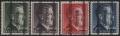 Österreich 1946, ANK + MICHEL Nr. 693 II B, 694 II B, 695 II A, 696 II A, Grazer Aushilfsausgabe - Markwerte 1 RM - 5 RM einheitlich mit dünnem bzw. magerem Aufdruck, postfrisch, ATTEST Dr. Glavanovitz
