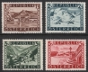 ANK Nr. 771 - 774, Michel Nr. 767 II - 770 II, Freimarken: Landschaften Schillingwerte, glatter Grund, postfrisch, ANK  € 82,-- , DB SVEBÖ