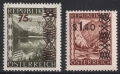 ANK Nr. 844 - 845, Michel Nr. 835 - 836, Freimarken mit Aufdruck, postfrisch