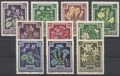 ANK Nr. 877 - 886, Michel Nr. 868 - 877, Heimische Blumen Anti-Tuberkulose-Fonds, 10 Serien bzw. Sätze, postfrisch, ANK € 120,-- DB D1016