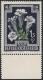 Österreich, 1948, ANK Nr. 885 F I, MICHEL Nr. 876 F I, Heimische Blumen - 1 Schilling + 50 Groschen MIT FEHLENDER FARBE BLAU