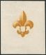 Österreich, 1951, ANK Nr. 983 P, MICHEL Nr. 966 F U, 7. Weltjamboree ( Weltpfadfindertreffen ) - UNGEZÄHNTER PHASENDRUCK des Mittelstücks ( Pfadfinderabzeichen ) - der Stichtiefdruck fehlt - postfrisch, ATTEST Soecknick