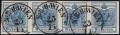 Österreich, 1850/54, Nr. 9 M III b, 9 Kreuzer lebhaftblau Maschinenpapier Type III b im waagrechten 4er-Streifen - ATTEST Dr. Ferchenbauer
