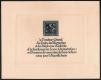 """Österreich, 1926, ANK Nr. 489 PU, MICHEL Nr. 489 PU Nibelungen 8+2 Groschen ungezähnt auf Japanpapier auf NEUJAHRGESCHENKSBLATT mit französischem Text, ATTEST Soecknick """"echt und einwandfrei"""" - SEHR SELTEN !!"""