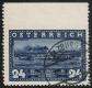 """Österreich, 1937, ANK Nr. 640 Uo, Michel Nr. 640 Uo, 100 Jahre Erstfahrt des DDSG-Dampfers Maria Anna - 24 Groschen OBEN UNGEZÄHNT zeitgerecht entwertet mit dem Stempel SALZBURG 2 *3d* 30.VI.37-16, ATTEST Soecknick """"echt und einwandfrei"""" - TOP-RARITÄT !!"""