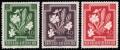 Österreich, 1948, ANK Nr. 880 P II, MICHEL Nr. 871 P, Heimische Blumen, 40 + 20 Groschen KISSENPRIMEL, Probedrucke einfärbig in Rot, Grün und Violettbraun, ATTEST Dr. Glavanovitz
