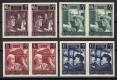 """Österreich, 1951, ANK Nr. 977 U - 980 U, Michel Nr. 960 U - 963 U, Wiederaufbau II UNGEZÄHNT im waagrechten Paar, postfrisch, ATTEST Dr. Glavanovitz """"echt und einwandfrei"""" - UNGEZÄHNT SEHR SELTEN !"""