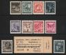 Österreich, 1946, ANK Nr. (13) + (14), MICHEL Nr. VI + VII, Nicht verausgabte Serie Blitz Totenmaske bzw. Blitz Totenkopf MIT EINTRITTSKARTE zur Ausstellung